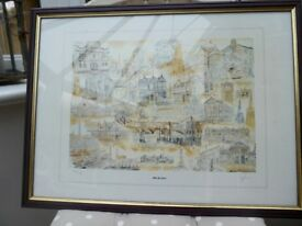 Painting of Old Stockport.