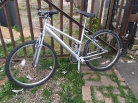 Silver medium bike