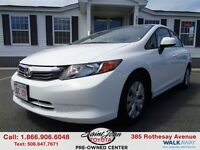 2012 Honda Civic LX $112.89 BI WEEKLY!!!