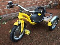 Vintage Powerlite Trike 3 Wheeler Pedal Bike Red Small Childrens 60s 70s - Collectible Bike -Reduced