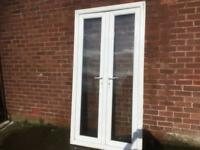 Upvc French doors and frame