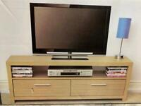 BRAND NEW OAK TV STAND & 2 TABLES, £40