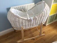 Clair de Lune Moses Basket Noah Pod-As New-£60ono