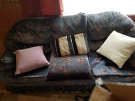 old sofa and 2 arm chairs