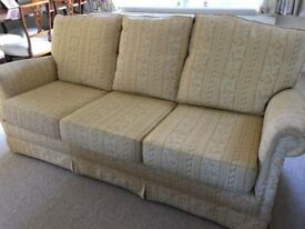 3 seater upholstered sofa in excellent condition