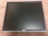 "Dell 19"" monitor with stand and cables"