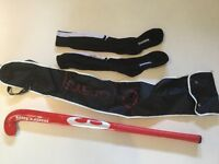 Junior girls or boys 1st size hockey stick , bag and new socks suit age 7 ish