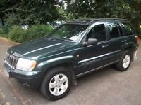 Jeep Grand Cherokee 3.1 CRD LTd Station Wagon 4x4 HTD LEATHER + S/ROOF + CRUISE 2001 (51 reg), SUV
