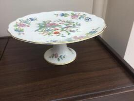 Aynsley cake stand no chips or cracks lovely item