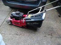 "Mountfield empress 16"" petrol rotary lawn mower with grass box rear roller vgc gwo"