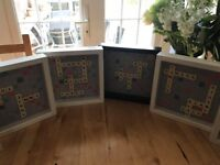 Family framed scrabble word art, personalised gift idea unique christmas birthday present NEW