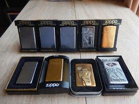 9 Assorted Zippo Lighters