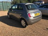 Fiat 500 1.2 petrol 3dr hatcback grey low mileage hpi clear - cheap insurance part ex welcome