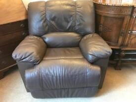 Leather Recliner Brown