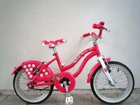 "(2089) 16"" 11"" DISNEY GIRLS CHILD CRUISER-STYLE BIKE BICYCLE; Age: 5-7; Height: 110-125 cm"