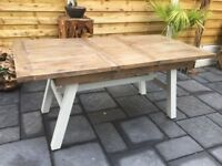 'Hampton' Reclaimed Timber Extending Dining Table, New / Unused