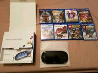 LIKE NEW BOXED PS VITA WITH 8 GAMES