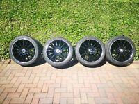"Genuine Merc AMG Wheels with tyres 18"" 5x112"