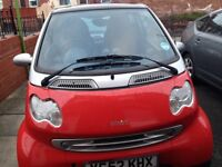 SMART CAR COUPE AUTOMATIC 2002. LOW MILEAGE . CHEAP ROAD TAX AND CAR INSURANCE. VERY ECONOMICAL