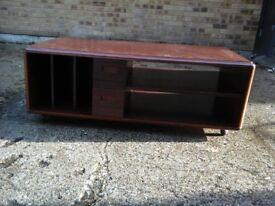 Dark brown wooden TV/Media table