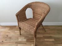 Rattan/bamboo wicker chair