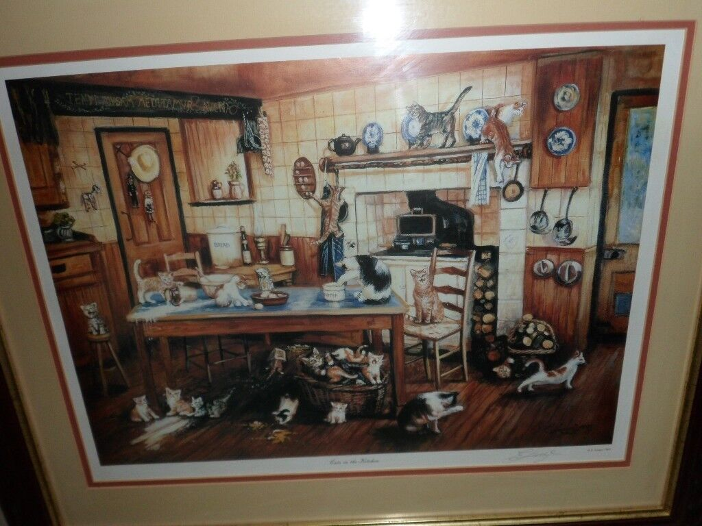 cats in the kitchen by eddie lange famous scottish artist born in