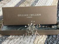 Gillian Million Esme headpiece for sale. Used once for wedding