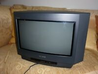 """Sony 15"""" television with remote"""
