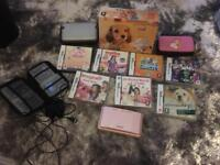 Nintendo DS- pink with 7 games
