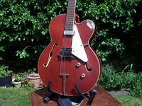 Hofner J5 Jazz Guitar, Single Cutaway, Semi-acoustic electric Archtop