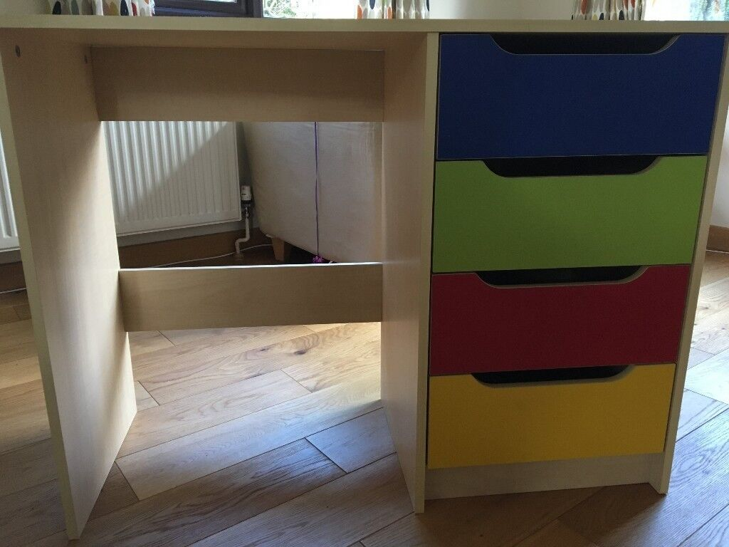 Children S Desk With Drawers Ideal As A First For School Work