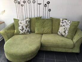 Green sofa from dfs