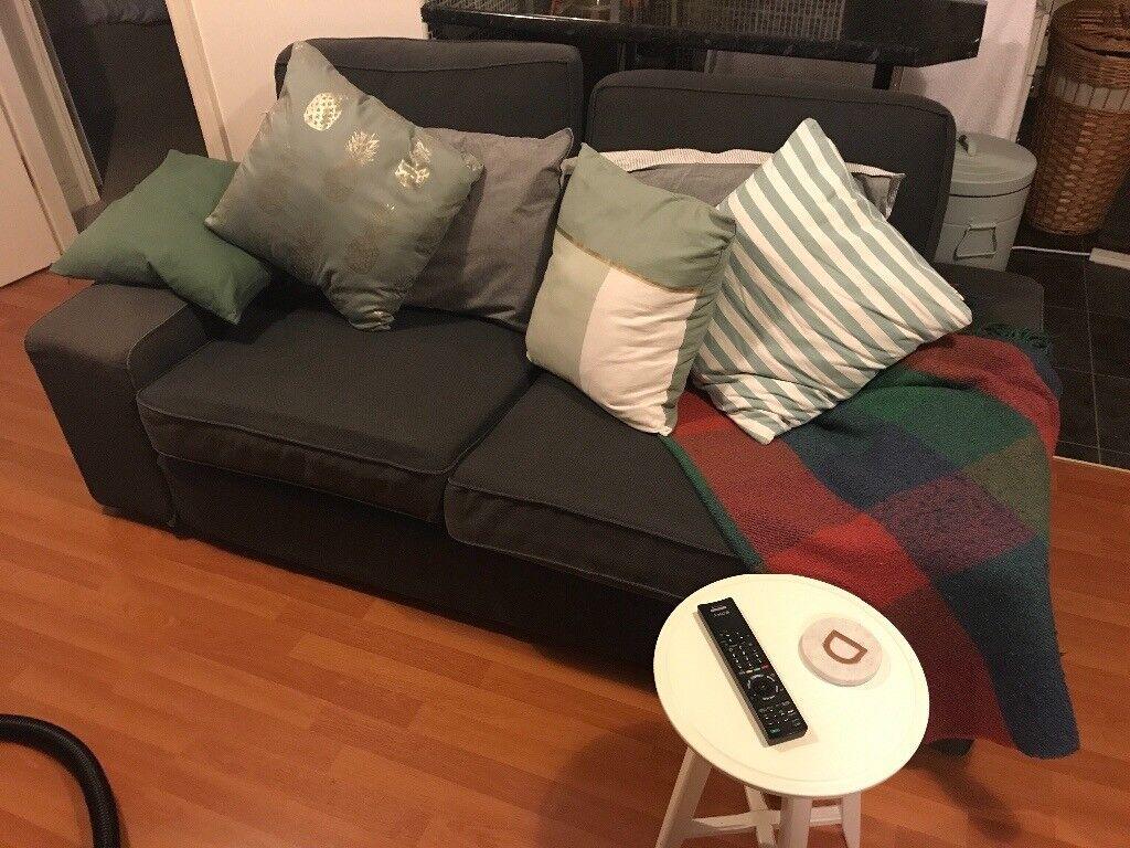 Well looked after grey fabric IKEA sofa