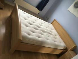 Double Bed with Mattress Queen Size