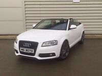 2010 Audi A3 2.0 TDI S LINE SPECIAL EDITION 2d 138 BHP CONVERTABLE**BLACK EDITION**WHITE**