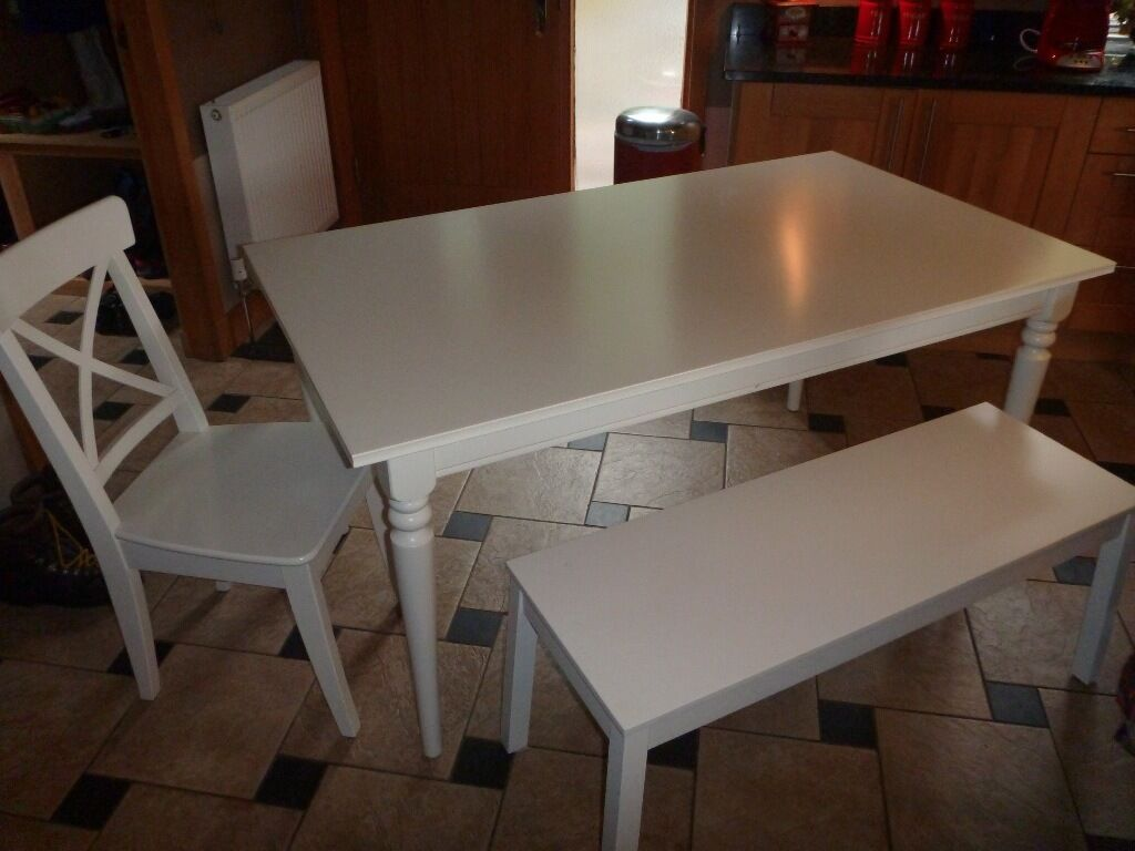 White Kitchen Table small white kitchen table profitpuppy Ikea White Kitchen Table With 4 Chairs And Bench In Dunblane Ikea White Kitchen Table With 4 Chairs And Bench In Dunblane
