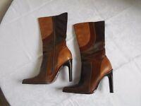 Faith leather boots - Size 5