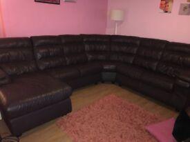 7 seater Italian leather cornor couch