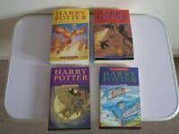 4 x Harry Potter books By J.K Rowling