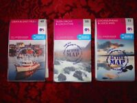 3 BRAND NEW OS LANDRANGER MAPS - WATER PROOF - TEAR PROOF - OBAN AND DISTRICT