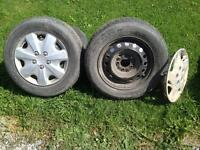 4 -15 inch rims with 5 hole pattern
