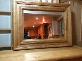 SUPERB solid oak mirror BELFAST NEWCASTLE can deliver if required hall bedroom kitchen livingroom