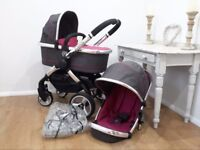 Icandy Peach 2 In Berry Bon Bon Complete travelsystem quick sale £280