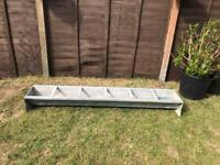 Large galvanised trough garden planter