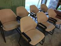 Beige office chairs