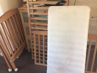 Free cot, mattress and covers
