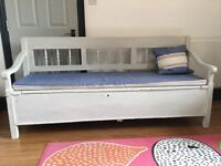 Vintage interior wooden bench for sale with useful storage £120 pick up East London