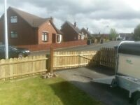 Armagh garden fencing wooden gates grass cutting hedge trimming