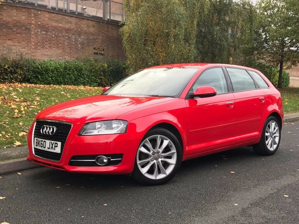 2010 red audi a3 2 0 tdi sport sportback 5dr hatchback. Black Bedroom Furniture Sets. Home Design Ideas