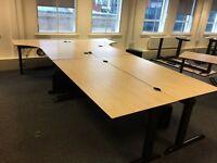 Four Desk Set of 2 x rectangle and 2 x L-Shape desks